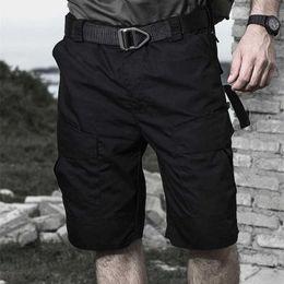 männliche taktische hose Rabatt Männer Militärische Taktische Cargo Shorts Teflon Wasserdichte Camouflage Outdoor Camping Klettern Wandern Jagd Trekking Männliche Hosen