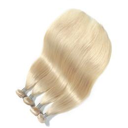 Le nouveau produit Platinum Blonde Color Peruvian Straight Hair Weave 100% Remy Bundles de cheveux humains 10-30 pouces Double Trame Extensions de cheveux ? partir de fabricateur