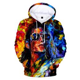 Camisolas de michael jackson moletom com capuz on-line-Michael Jackson Moletom Com Capuz Pulôver Masculino Manter Quente Com Capuz Cantor Michael Jackson Hip Hop Homens Streetwear Hoodies