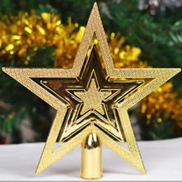 2019 estrela do topper da árvore de natal Árvore de natal Topper Estrela De Plástico Estrela Da Árvore de Natal Topper para Decoração de Mesa Artesanato Colorido Xmas DIY Acessórios desconto estrela do topper da árvore de natal