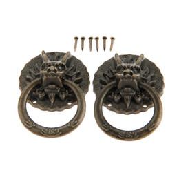 2019 schrank ring ziehen Haufen Schrank Zieht DRELD 2 Stücke Vintage Drachenkopf Möbel Türzuziehgriff Kabinett Kommode Schublade Knöpfe Ring Griff Möbel Hareware ... rabatt schrank ring ziehen