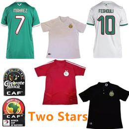 Formazione oro online-2 stelle 2019 Algeria # 7 MAHREZ Soccer Jersey 19/20 Gold Stars FEGHOULI BRAHIMI BELAILI POLO Maglia da calcio ATAL Uniforme da allenamento rossa