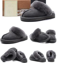 scarponi da lavoro in pelle a buon mercato Sconti 2019 New Classic U51G25 Pantofole di cotone caldo Pantofole da uomo e donna Stivali da donna Stivali da neve Pantofole di cotone