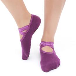 New Women Professional Anti Slip Bandage Sport Yoga Calze Ladies Ventilation Pilates Calze da ballo Danza Pantofole Calzino da