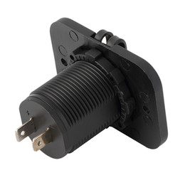 Moto usb dual online-Coche Motocicleta Dual USB Socket Splitter Cargador de coche Adaptador de corriente LED Impermeable para iPhone MP3 MP4 teléfono móvil venta calienteEnvío gratis
