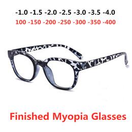 8137990ab80b2 FashionTR90 Rodada Força-100 -150-200 -250-300 -350 -400 Óptica Nearsighted  Unisex Homens Mulheres Miopia Terminado Armações de Óculos