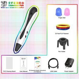 Penne di stampa a schermo online-1.75mm ABS / PLA Filamento 3D Penna DIY 3D Printing penna disegno LED schermo USB di ricarica stampante giocattolo creativo regalo per i bambini