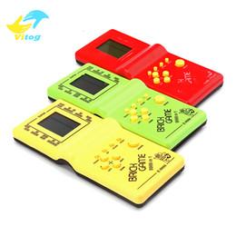 Веселые классические игры онлайн-Vitog классический Тетрис ручные игры электронные игрушки весело кирпичная игра загадка портативных игровых консолей для детей играть e9999