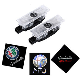 magnet blaues licht Rabatt Für Alfa Romeo 159 2Pcs LED Auto Tür Willkommen Licht Logo Projektor für Alfa Romeo 159 147 Giulia Giulietta Mito Stelvio