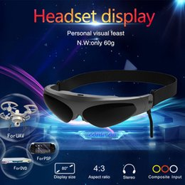 Pantalla azul online-Gafas de realidad virtual VR 3D Pantalla montada en la cabeza AV Gafas de video inteligentes FPV para Blu-ray Reproductor de DVD Drones MP5 PS3 XBOX TV