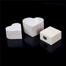 Cajas de almacenamiento de madera portátiles Forma de corazón Joyero de madera Regalo de boda Maquillaje Almacenaje Pendientes Bin Anillo Anillo desde fabricantes