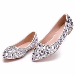 2019 Scarpe da sposa attraenti con Rhinestons Shining Beaded scarpe da sposa a punta scarpe da donna Prom Shoes Size 34-43 da immagini della signora nude fornitori