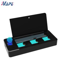 2019 xtar ladegerät vc4 Wellon Pandora PCC Box 1100mAh für JU * L mit 4 PCC Pods Position Fingerprint Lock Design Akku PCC Box Kit 100% Original
