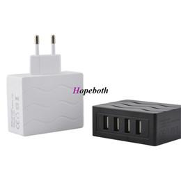 Разъемы для сотового телефона онлайн-4 порта USB-концентратор адаптер питания ЕС Plug путешествия зарядное устройство для iPhone ipad Samsung smart cell phone tablet pc 5 в 2.5 A
