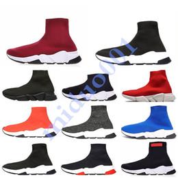 chaussettes de style de chaussures Promotion Chaussures de marque hommes femmes vitesse formateur de luxe chaussettes de style de chaussure noir blanc bleu paillettes plat mens