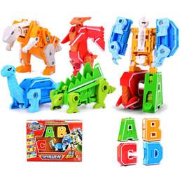Bloques de robot online-Nuevos digital de bebé robot deformación Building Blocks juguetes rompecabezas de montaje bloques robot niños juguetes educativos regalos de Navidad