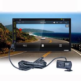 registratore mp4 sd Sconti Touch screen da 7 pollici Car Stereo Phone Link solo FM Bluetooth Lettore MP3 MP4 con USB SD HD decodifica registratore di guida di WiFi GPS per auto dvr