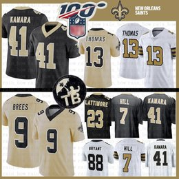 9 Drew Brees New Orleans Jersey Saints 41 Alvin Kamara 13 Michael Thomas 7 Taysom Hill 23 Marshon Lattimore 88 Dez Bryant Football MENS da