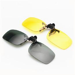 Прямоугольные бескаркасные солнцезащитные очки онлайн-Мужская клипса на солнцезащитных очках Прямоугольная оправа без оправы Откидная клипса на солнцезащитные очки по рецепту UV400 Защитная линза для вождения Рыбалка Спорт