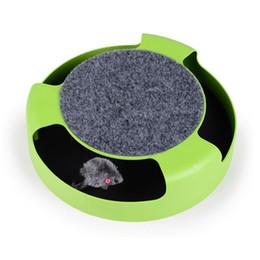 коврики для мыши для кошки Скидка Игрушка для котенка с круглой царапиной и мышкой