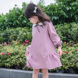 2019 New Summer Long Sleeve Girls Dresses Cotton Pink Cute A-line Kids Dress  Casual Regular Knee-length Children Clothes Ds634 0943179eac84