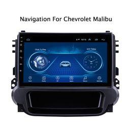 """2019 honda civic lettore mp3 schermo Super Slim tocco 9"""" Android 8.1 Navigazione GPS Per il 2014 Malibu radio stereo per auto Bluetooth Multimedia testa dell'automobile unità dvd"""