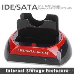 """REINO UNIDO UK0001 2.5 """"3.5"""" 2 SATA 1 IDE HDD Unidade de Disco Rígido dupla Docking Station USB HUB Reader Gabinete HDD Externo Frete Grátis 409 de"""