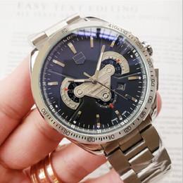 Relojes deportivos de gama alta digital online-Relojes de lujo para hombre Reloj para hombre Grand Brand Reloj con correa superior Correa de acero inoxidable con todas las funciones Relojes de pulsera Reloj deportivo de alta gama