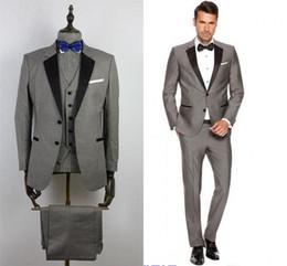 Bestbewerteter Rabatt gute Qualität Outlet-Verkauf Rabatt Grey Suit Bow Tie | 2019 Grauer Anzug Schwarzer ...