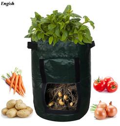 Sacchetto di crescita vegetale pianta fai da te patate crescere piantatrice PE panno contenitore di stoffa sacchetto addensare piante da vaso casa fattoria crescere borsa da panno di agricoltura fornitori