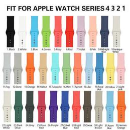 браслеты из силиконовой резины Скидка Силиконовый ремешок для часов Apple ремешок 40 мм 44 мм 42 мм 38 мм браслет Резиновый ремешок для часов 4/3/2/1 Apple, часы