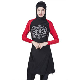 2019 abiti americani cinesi Costume da bagno casual slim da donna a vita alta a vestibilità musulmana a rapida asciugatura e ad asciugatura rapida