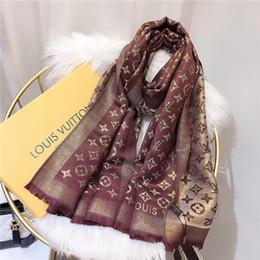 Hot Novo produto outono e inverno de malha de jacquard letras material de algodão longo lenços das mulheres xale tamanho 180 * 70 cm de