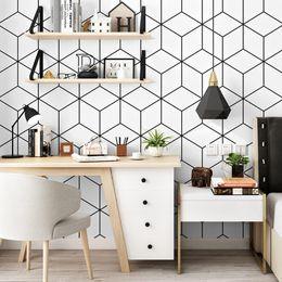 2019 обои компьютер Мода минимализм геометрический узор обоев спальни украшения студенческое общежитие компьютерный стол фоне стены современные полосы обои скидка обои компьютер