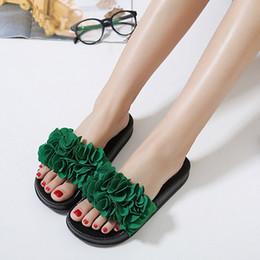 filles pantoufles Promotion MUQGEW Plage Sandales Femmes Pantoufle Fleur D'été De Cheville Mode En Plein Air Chaussures Lady Casual Maison Pantoufles Plat Plage Chaussures Filles