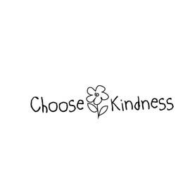 Kinder de adesivos on-line-Escolha bondade decalque janela adesivo paz tipo criança desenho flor amor