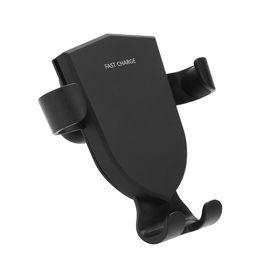 Gebrauchte apfel handys online-Qi Wireless Handy-Ladegerät iPhone 8 / 8X Max / Samsung Ladegerät 360 Umdrehung 10W Schnelles kabelloses Ladegerät fürs Auto