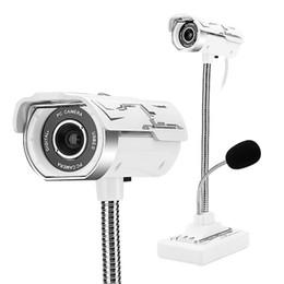 USB 2.0 filaire Webcams Caméra vidéo pour ordinateur portable à angle réglable HD LED Vision nocturne avec microphone 360 degrés blanc ? partir de fabricateur