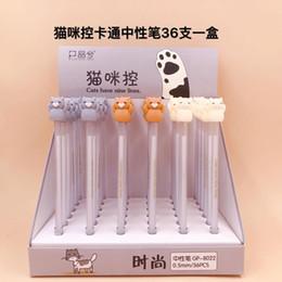 plumas de tinta de gato Rebajas 36 piezas de bolígrafos de gel Kawaii Bolígrafos de tinta de gel negro Control de gato para escribir artículos de papelería lindos útiles escolares de oficina 0.5 mm