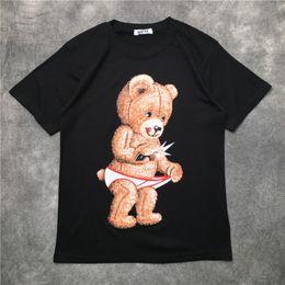 2019 magliette da stampa angelo Palm Angels Mens Designer shirt Hip Hop Palm Angeli Uomini Donne maglietta stampata orso manica corta Streetwear formato S-XXL magliette da stampa angelo economici