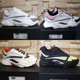 Sapatos de corrida vintage on-line-Designer Sneakers luxo B22 sapatilha de couro sapatos de plataforma de vintage Low Top bezerro Mens Formadores Unisex Running Shoes US4-12 alta qualidade