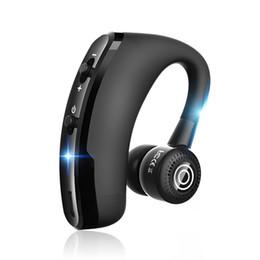 samsung embalaje de auriculares Rebajas Nueva llegada V9 para iphone 7 auriculares de estilo empresarial auriculares inalámbricos earhook diseño rotatorio bluetooth auriculares con paquete