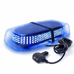 Barra luminosa di emergenza Mini Bar a LED con applicazione di legge blu con base magnetica 240LED Barra luminosa di emergenza per camion cheap blue strobe light bars da barre di luce strobo blu fornitori