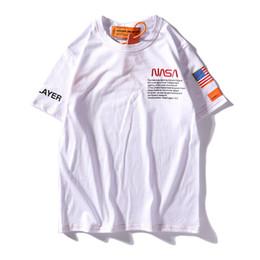 Argentina NASA X Heron Preston Marca Camiseta Hombre Nuevo Verano Manga Corta Camisetas Emboridered Hombre Casual Tops Diseñador Camisa Streetwear Suministro