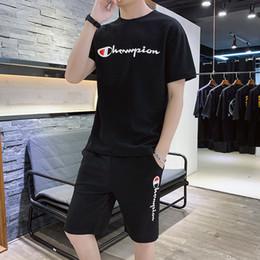 Argentina Envío gratis para hombre diseñador chándal trajes deportivos 2 piezas conjunto verano hombres ropa chándal de lujo impresión de la letra joggingsuit Suministro