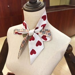 cinto de gravata de seda Desconto Top qualidade de Moda de seda dupla camada headband impresso tie lenço amarrar multi-purpose das mulheres marca saco decorativo cinto exclusivo atacado 6 * 1