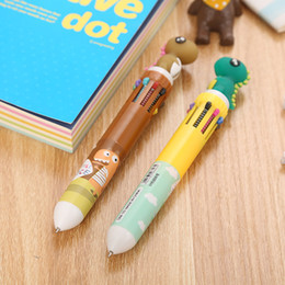 tens pen Coupons - Creative stationery ten color ballpoint pen cartoon student color graffiti pen girl heart multicolor press ballpoint