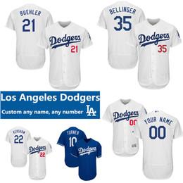 3aee2fde9c2 custom LA Dodgers Jersey 22 Clayton Kershaw 5 Corey Seager Justin Turner  Kike Hernandez Cody Bellinger Walker Buehler Russell Martin jerseys