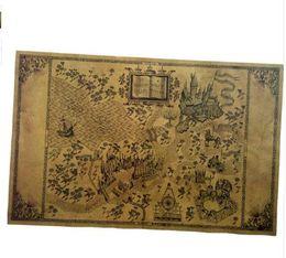 Argentina Mapa del mundo mágico de Harry Alrededor de la película de póster de papel grande 51 * 32.5 cm Cartel clásico Vintage Retro Arte de papel Suministro