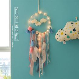 ringstand chinesisch Rabatt Exquisite handwerk traumfänger hause weiße wolken feder traumfänger dekorationen fantasie hause wanddekoration geschenke